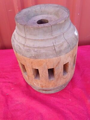 Antique Wooden Wagon Wheel Hub