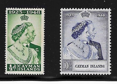 Cayman Islands 129-130 Silver Wedding A-21