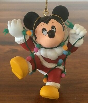 Disney Grolier Mickey Mouse with Lights Ornament
