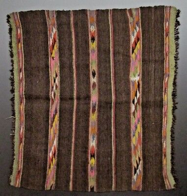 Late Colonial Early Republican Peru Southern Highlands Wool Manto  Ca. 18-19th c
