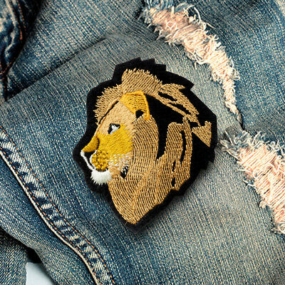 Lion Wild Animal Embroidered Sew On Iron On Patch Badge Fabric Craft Transfer