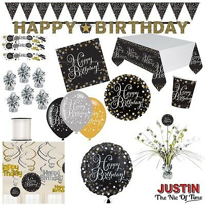 GOLD Celebration Birthday Party Supplies Balloons Banners Tableware & Decoration