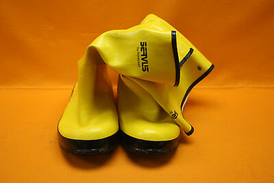 Servus by Honeywell Pr of Men's Rubber Protective Overboot A380 Size 14 Yellow