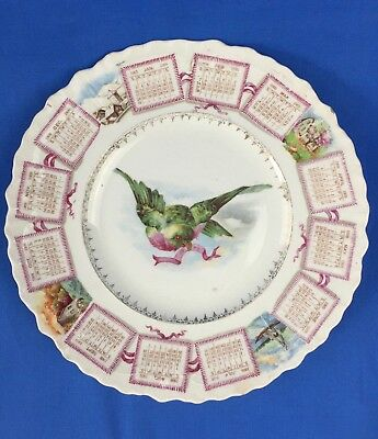 1909 Calendar Plate Compliments Mrs. Joseph Lawrence Youngstown OH Advertising