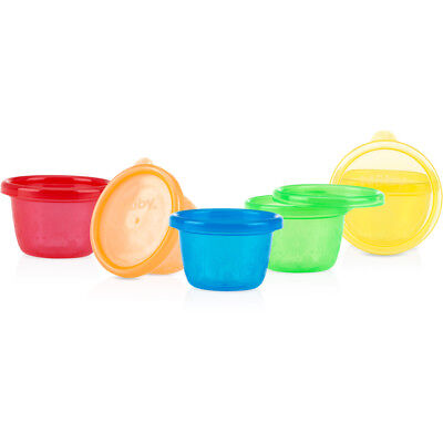 Nuby Wash Or Toss 6 Pack Snack Cups 6 Months+
