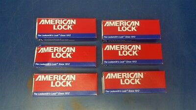 Lot of 6 - American Lock (A1107RED) Keyed Lockout Red Safety Padlock 1 Key