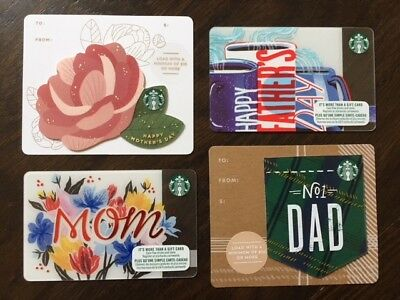 Canada Series Starbucks MOTHERS & FATHERS DAY SETS 2018 Gift Cards New No Value