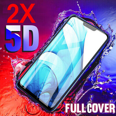 2X Full Cover Tempered Glass Screen Protector For Oppo AX5 AX7 R15 R17 Pro A73