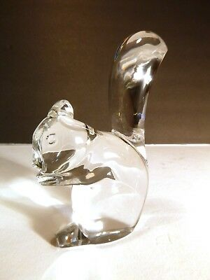 "*VINTAGE* Baccarat Crystal SQUIRREL Paperweight 4 1/2"" Made in FRANCE"
