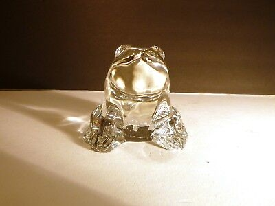 "*VINTAGE* Baccarat Crystal FROG Paperweight 4 1/2"" Made in FRANCE"