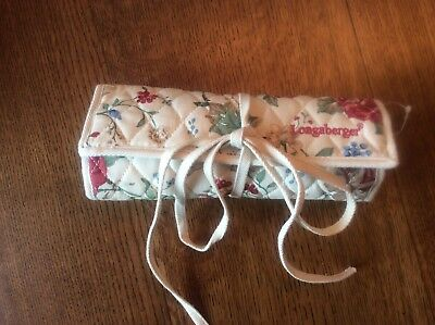 Longaberger Homestead Cosmetic Makeup/ jewerly Case Roll