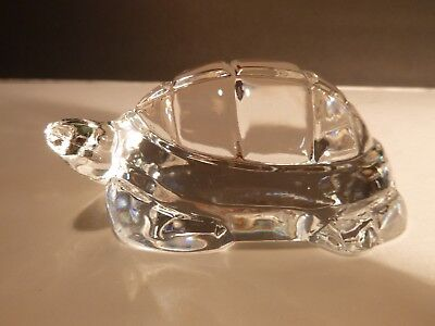 "*VINTAGE* Baccarat Crystal TURTLE Paperweight 4"" Made in FRANCE"