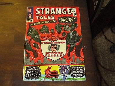 Strange Tales #136 Higher Grade Silver Age 2Nd Appearance Nick Fury Shield