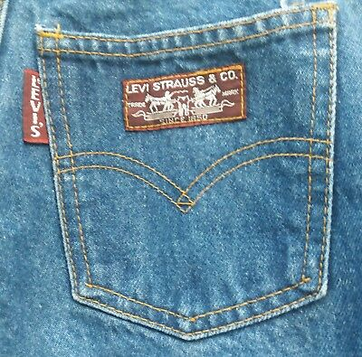 Vtg LEVI Big E Jeans Size 7 Red Label 26X26 26 Women's Girls Rise 12in