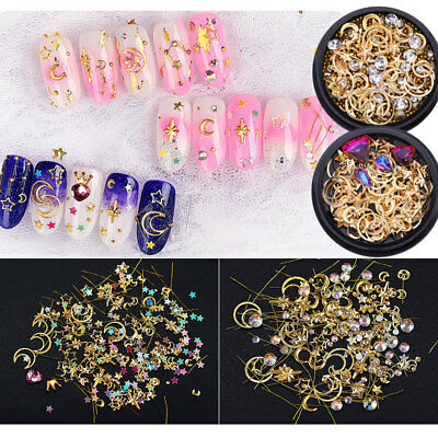 Glitter Crystal Nail Art Ongles Strass Rivets Tips Salon Manucure 3D Décoration