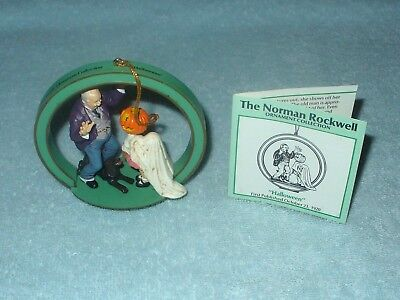 Norman Rockwell Christmas Ornament Collection Halloween 1987  Danbury Mint