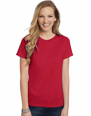 c437a3ac Hanes Women's Relaxed Fit Jersey ComfortSoft Crewneck T-Shirt Women's Tops