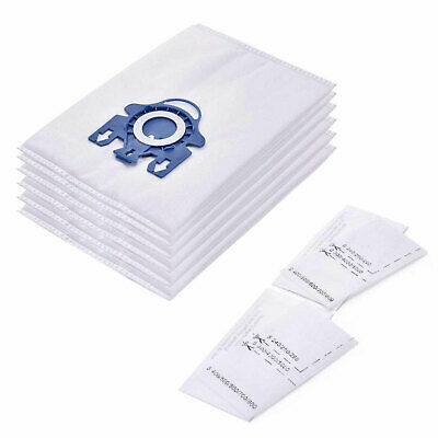 6 Synthetic Hyclean 3D Type Bags + 2 Filter For Miele C3 Complete ECOLINE PLUS