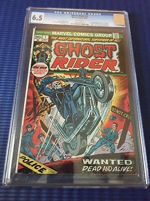 Ghost Rider #1 -CGC 6.5 -Marvel Key 1st Issue - & 1st Appearance of Son of Satan