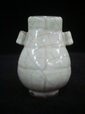 "Very Fine Old Chinese ""Guan"" Kiln Blue Glaze Porcelain Vase"
