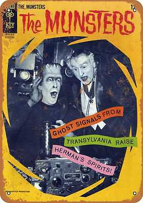 """7"""" x 10"""" Metal Sign - 1966 The Munsters Comic - Vintage Look Repro"""