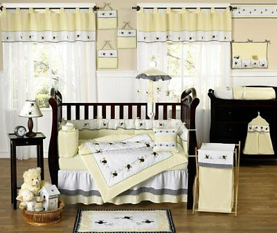 NEW Bumblebee crib bedding set (9pieces)