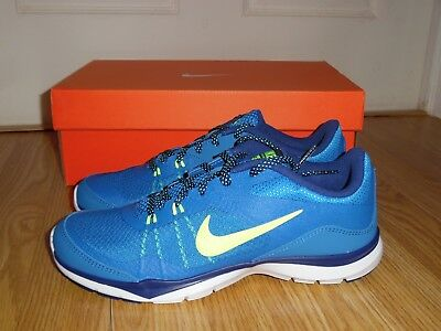 5f69a82e860cc Women s Nike Flex Trainer 5 athletic shoes sneaker Size 6.5 8 10 Blue 724858  400
