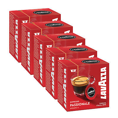 Lavazza A Modo Mio Espresso Passionale 80 Pods for Capsule Coffee Machine, Dark