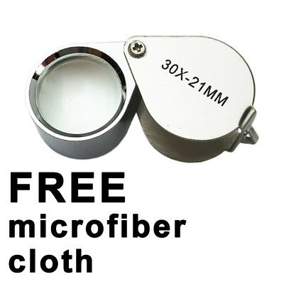 NEW Jewellers Eye Loupe Magnifier Folding Magnifying Glass 30 x 21mm Jewelers