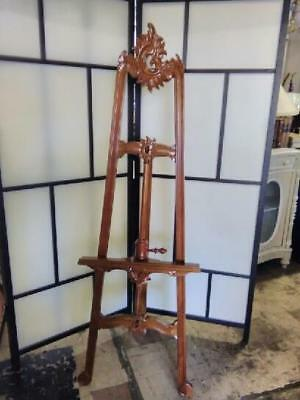 ANTIQUE STYLE REPRODUCTION LOUIS XIV  MAHOGANY EASEL.ART DISPLAY STAND 171cm