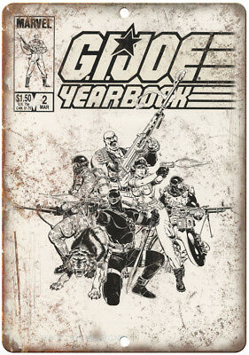 """G.I. Joe Yearbook Vitnage Comic Book Cover 10"""" X 7"""" Reproduction Metal Sign J176"""