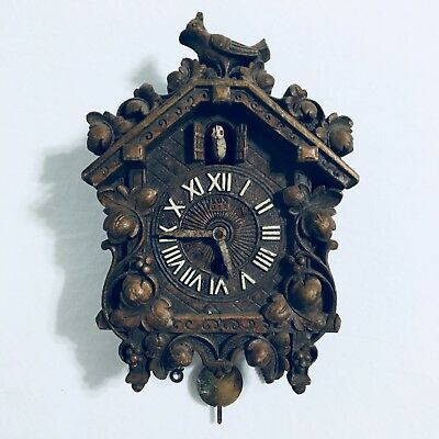 Vintage Cuckoo Clock LUX Manufacturing Waterbury Connecticut For Parts Or Repair