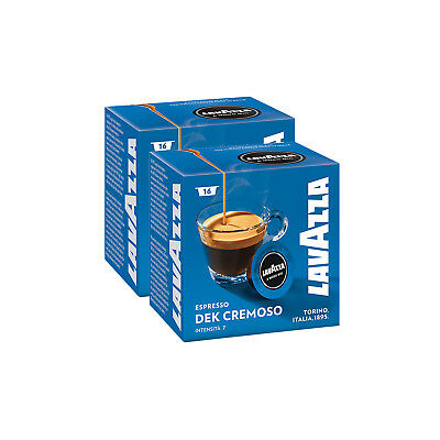 Lavazza A Modo Mio Espresso Dek Cremoso 32 Pods Coffee Machine Capsules, Medium