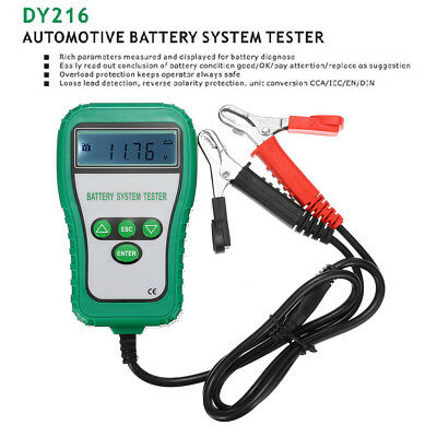 12V Digital Car Alternator Battery System Tester Analyzer Monitor 100-1700CCA