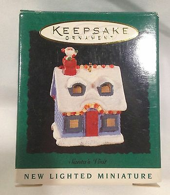 Hallmark Lighted Miniature Keepsake Ornament 1995 Santa's Visit