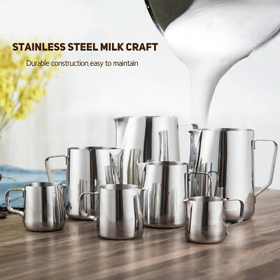 Stainless Steel Milk Craft Coffee Latte Frothing Art Jug Pitcher Mug Cup DG Hot