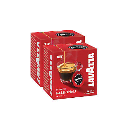 Lavazza A Modo Mio Espresso Passionale 32 Pods for Capsule Coffee Machine, Dark