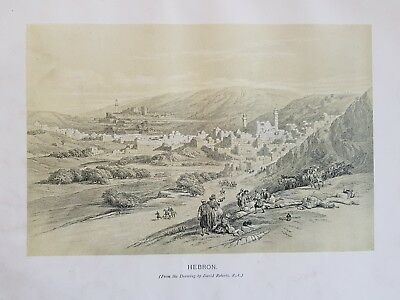 David Roberts RA Ancient City of HEBRON PALESTINE Holy Land Antique print c1839