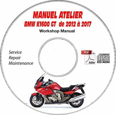 K1600 GT 12-17 Manuel Atelier CDROM BMW Expédition - Inclus, Support - CD-ROM -