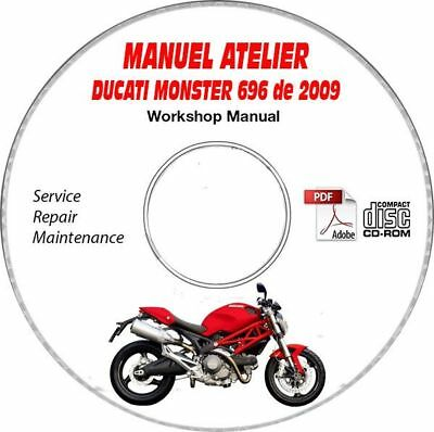 MONSTER 696 2009 Manuel Atelier CDROM DUCATI FR Expédition - Inclus, Support -