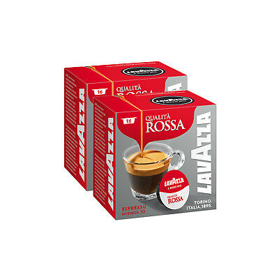 Lavazza Modo Mio Espresso Qualita Rossa 32 Pods Coffee Machine Capsules, Medium