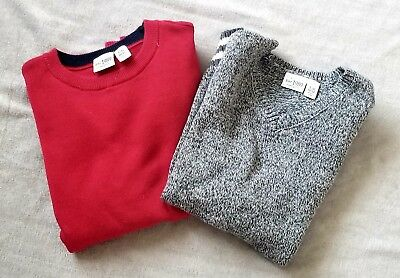The Childrens Place LG 10/12 Lot of 2 Red Sweater and Gray Vest
