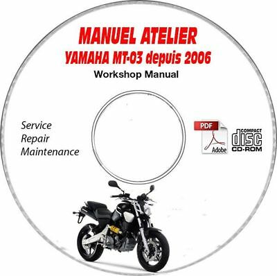 MT-03 06- Manuel Atelier CDROM YAMAHA Expédition - Inclus, Support - CD-ROM - D