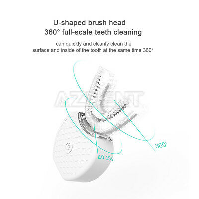 USB Automatic Electric Toothbrush Silicon ABS 360°Teeth Whitening Clean Wireless