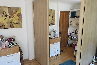 Nolte Wardrobe   Excellent Condition   2 Door, Full Length Mirror