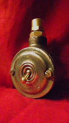 """Vintage Industrial Light Switch """"Walsall"""" Cast Iron One Gang"""