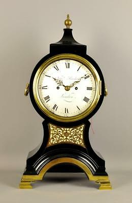 FINE GEORGIAN VERGE BALLOON CLOCK - Newman Peachy , London