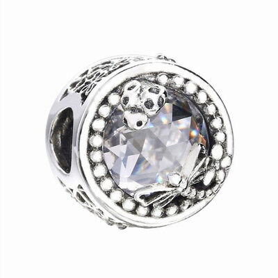 NEW! Genuine Authentic S925 Sterling Silver Charm Enchanted Nature Clear CZ Bead