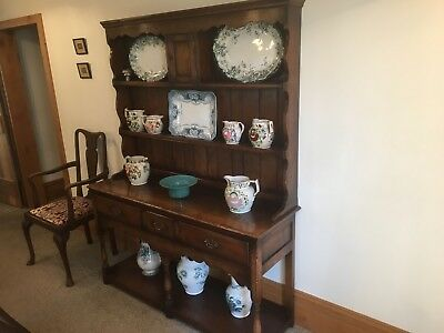 Titchmarch And Goodwin English Oak Dresser And Rack. Excellent condition.