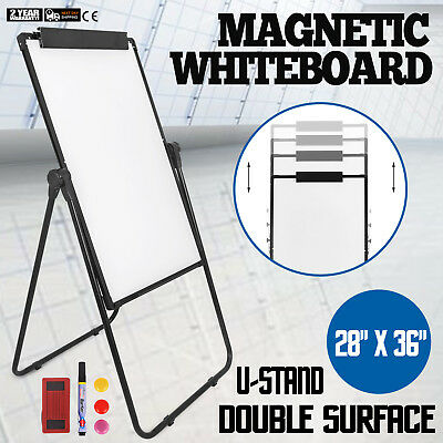 U-Stand Magnetic Dry Erase White Board Easel Height Adjustable Reversible